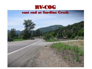 RV-COG east end at Sardine Creek