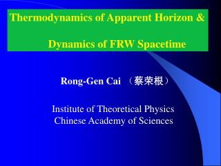 Thermodynamics of Apparent Horizon &               Dynamics of FRW Spacetime