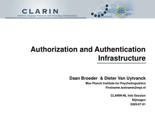 Authorization and Authentication Infrastructure