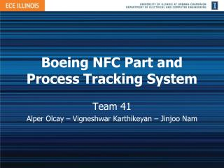 Boeing NFC Part and Process Tracking System