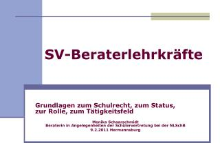 SV-Beraterlehrkräfte