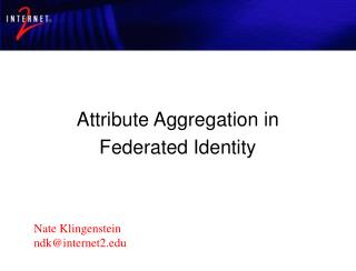 Attribute Aggregation in Federated Identity