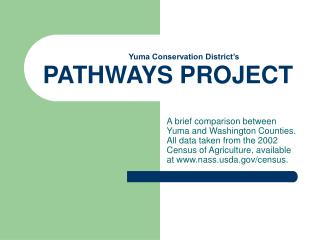 Yuma Conservation District's PATHWAYS PROJECT
