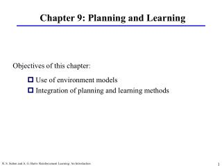 Chapter 9: Planning and Learning