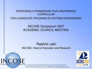 Rashmi Jain INCOSE, Head of Education and Research