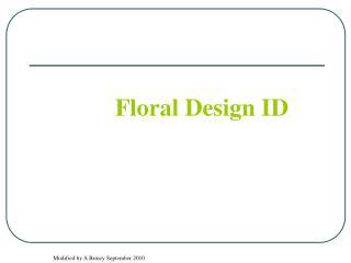 Floral Design ID