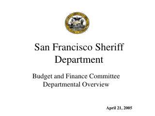 San Francisco Sheriff Department