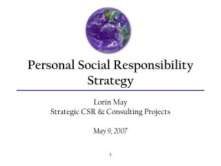 Personal Social Responsibility Strategy