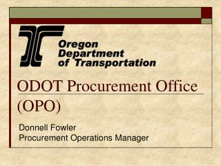ODOT Procurement Office (OPO)