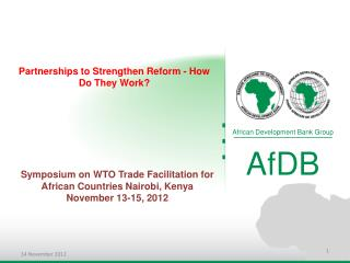 Partnerships to Strengthen Reform - How Do They Work?