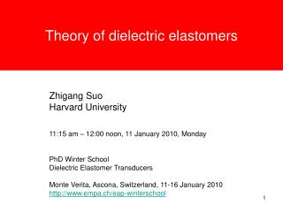 Theory of dielectric elastomers