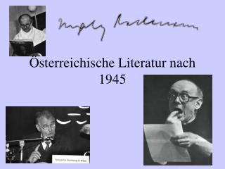 sterreichische Literatur nach 1945