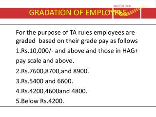 GRADATION OF EMPLOYEES