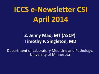 ICCS e-Newsletter CSI  April 2014