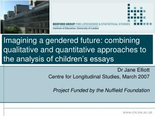 Imagining a gendered future: combining qualitative and quantitative approaches to the analysis of children s essays