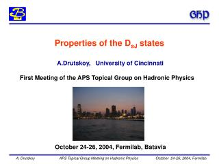 A.Drutskoy,   University of Cincinnati