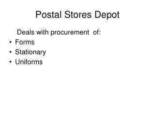 Postal Stores Depot