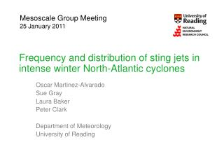 Frequency and distribution of sting jets in intense winter North-Atlantic cyclones