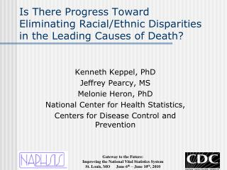 Is There Progress Toward Eliminating Racial/Ethnic Disparities in the Leading Causes of Death?