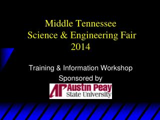 Middle Tennessee  Science & Engineering Fair 2014