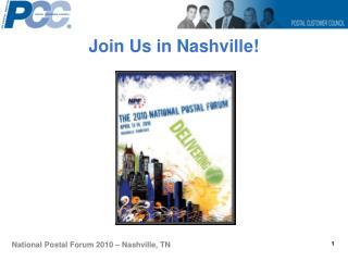 Join Us in Nashville!