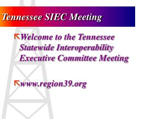 Tennessee SIEC Meeting
