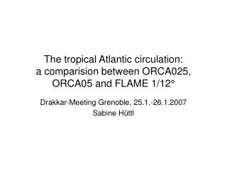 The tropical Atlantic circulation: a comparision between ORCA025, ORCA05 and FLAME 1/12°