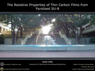 The Resistive Properties of Thin Carbon Films from Pyrolized SU-8