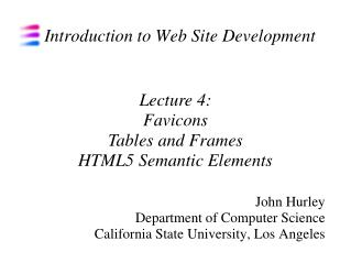 Introduction to Web Site Development