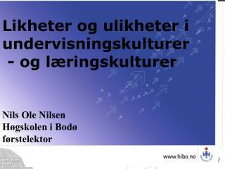 Nils Ole Nilsen H gskolen i Bod  f rstelektor