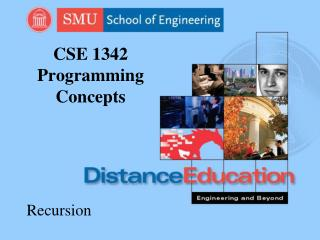 CSE 1342 Programming Concepts