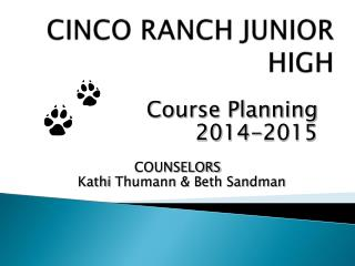 CINCO RANCH JUNIOR HIGH
