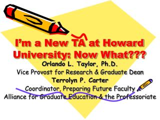 I'm a New TA at Howard University: Now What???