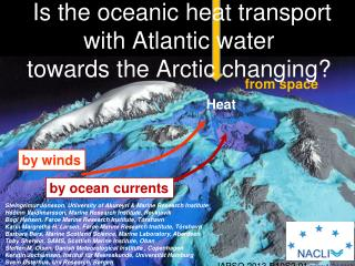 Is the oceanic heat transport with Atlantic water  towards the Arctic changing?