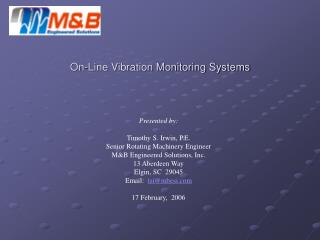 On-Line Vibration Monitoring Systems