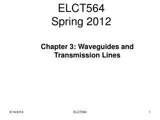 ELCT564  Spring 2012