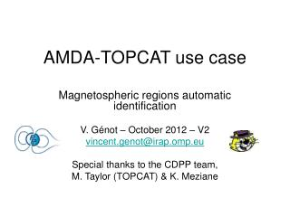 AMDA-TOPCAT use case