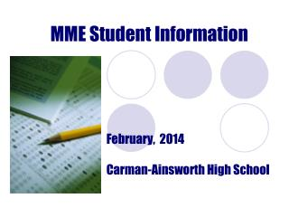 MME Student Information