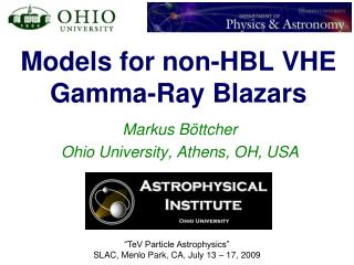 Models for non-HBL VHE Gamma-Ray Blazars
