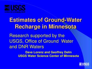 Estimates of Ground-Water Recharge in Minnesota