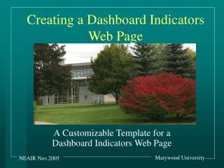 Creating a Dashboard Indicators Web Page