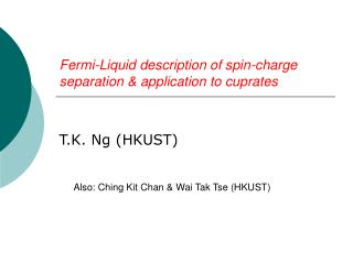 Fermi-Liquid description of spin-charge separation & application to cuprates