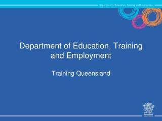 Department of Education, Training and Employment
