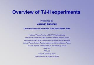 Overview of TJ-II experiments