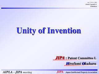 JIPA  :  Patent Committee I. H irofumi  O kuhara