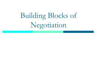 Building Blocks of Negotiation