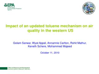 Impact of an updated toluene mechanism on air quality in the western US