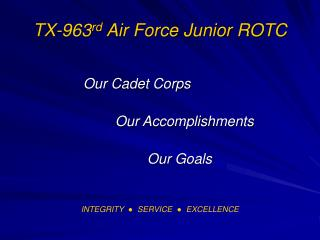 TX-963 rd  Air Force Junior ROTC