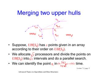 Merging two upper hulls