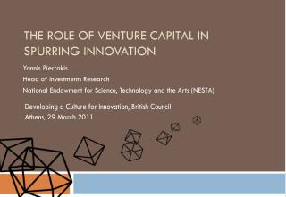The role of Venture Capital in spurring innovation